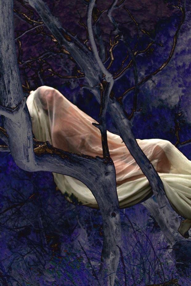 blue dream artistic nude photo print by photographer joseph auquier