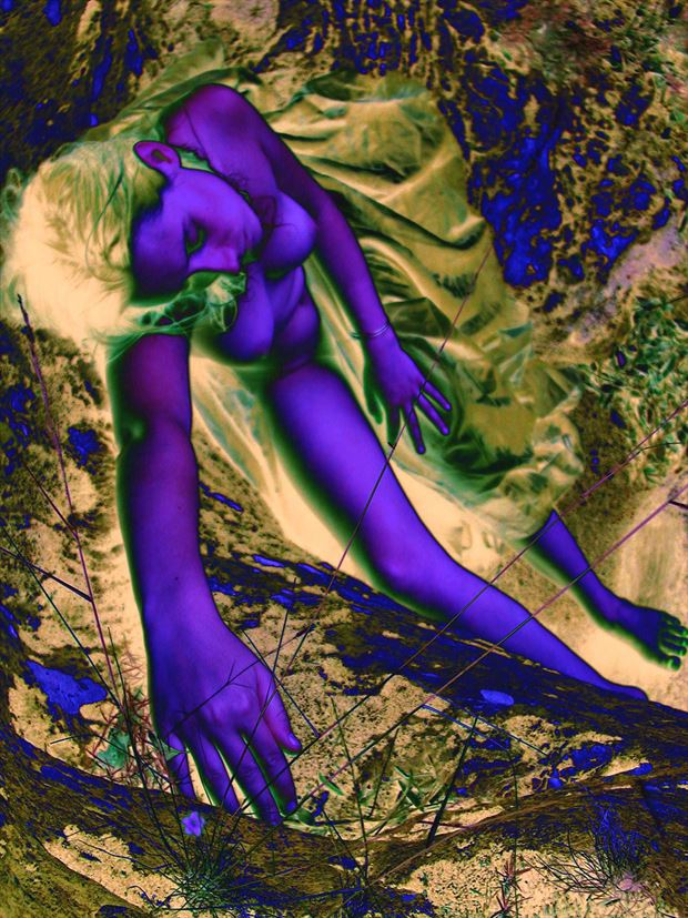 blue dream erotic photo print by photographer joseph auquier