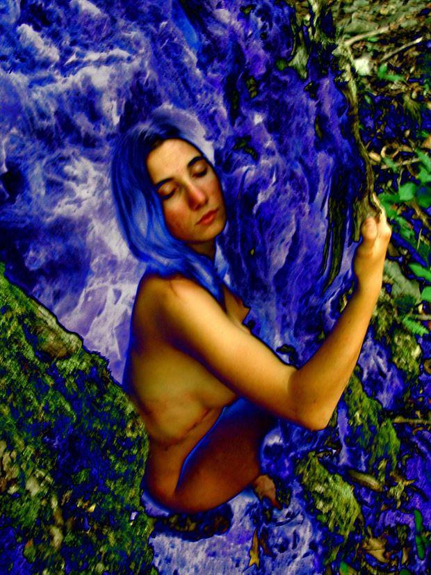 blue love tree surreal photo print by photographer joseph auquier
