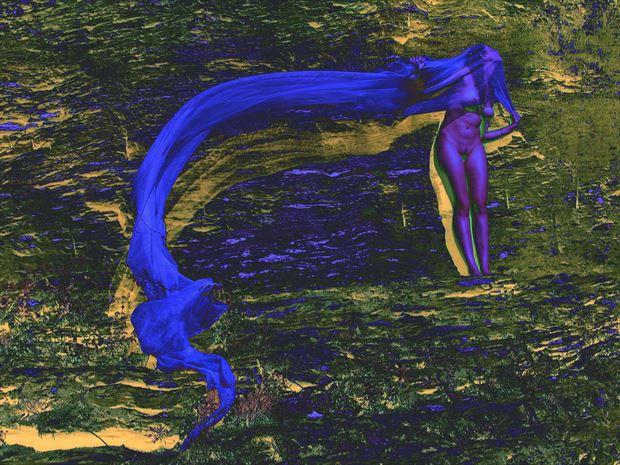 blue montain fantasy photo print by photographer joseph auquier