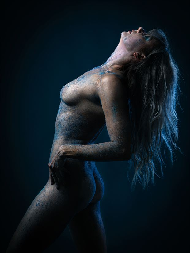 blue sand no 1 artistic nude photo print by model alexandra queen