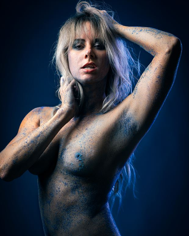 blue sand no 2 artistic nude photo print by model alexandra queen