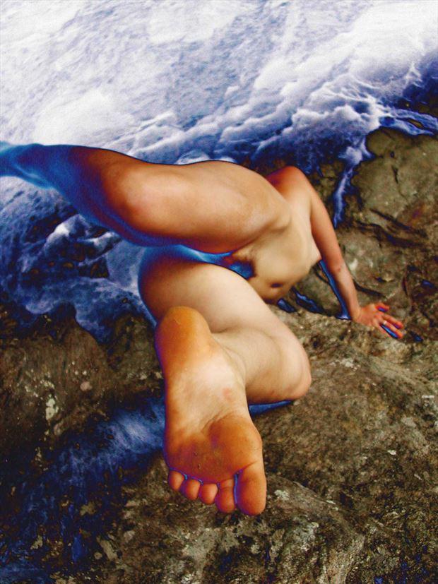 blue sky artistic nude photo print by photographer joseph auquier
