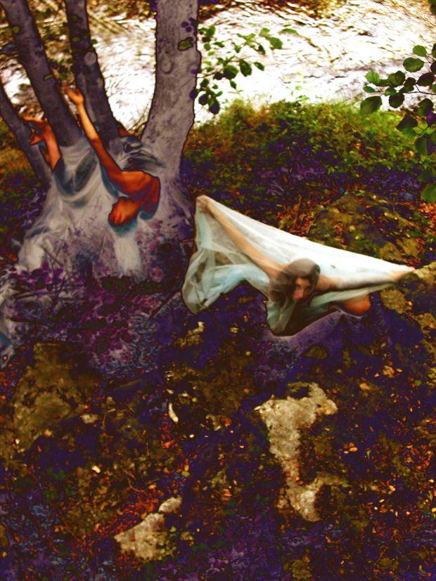 blue witch surreal photo print by photographer joseph auquier