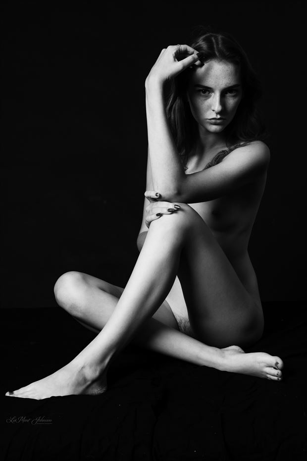 brittany in black white 1 sensual photo print by photographer lamont s art works