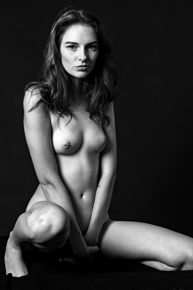 brittany in black white 2 sensual photo print by photographer lamont s art works