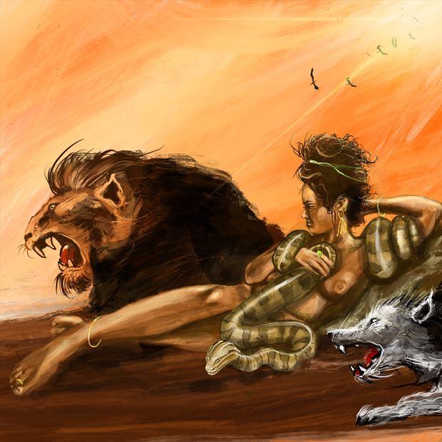 calypso 1 fantasy artwork print by artist nick kozis