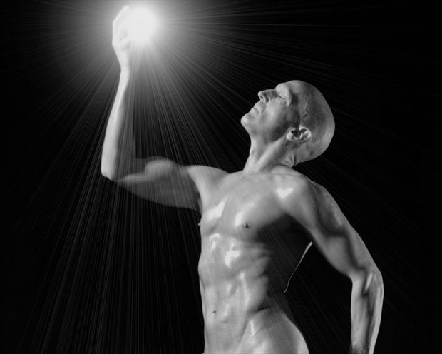 captured light crop artistic nude photo print by model avid light