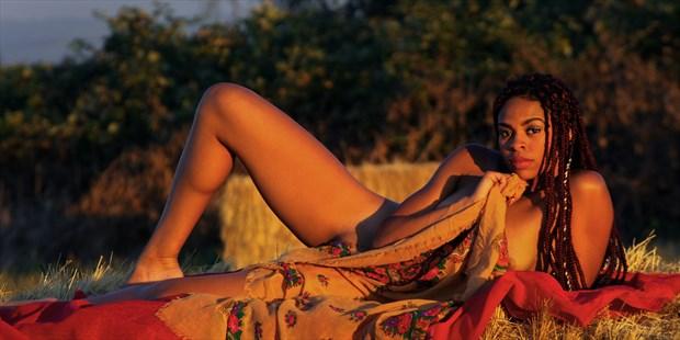 caramel sunset Artistic Nude Photo print by Photographer AEPhotography