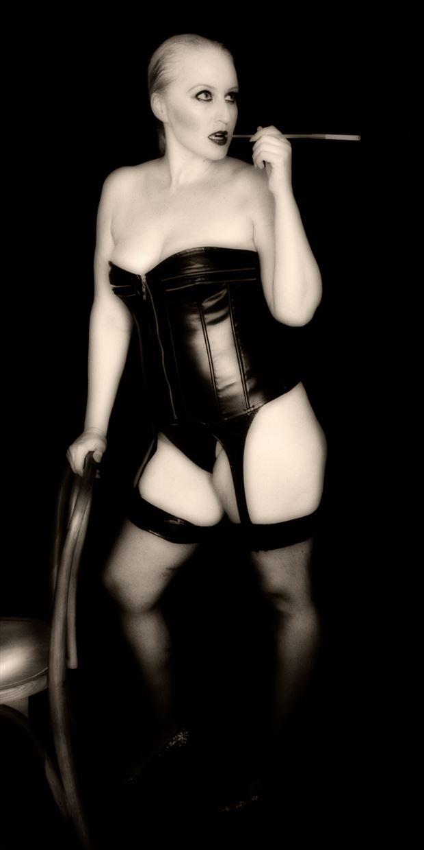 cassie in the cabaret lingerie photo print by photographer erichamburg