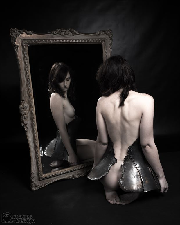 cassie s reflection artistic nude photo print by photographer jsetzer
