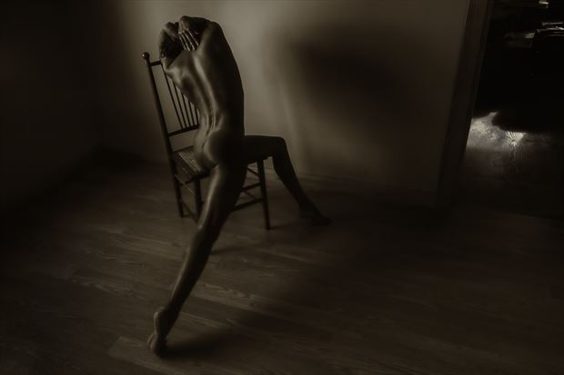 chair variations artistic nude photo print by artist kevin stiles