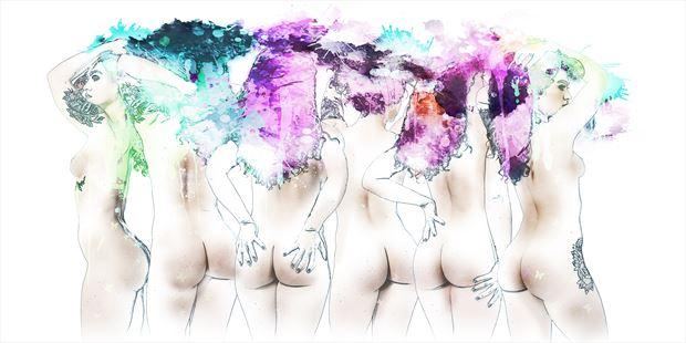 cheeky artistic nude photo print by photographer ken greenhorn