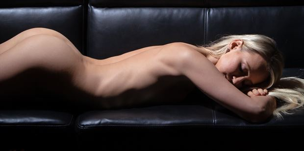 chelsea at rest between takes artistic nude photo print by photographer lamont s art works