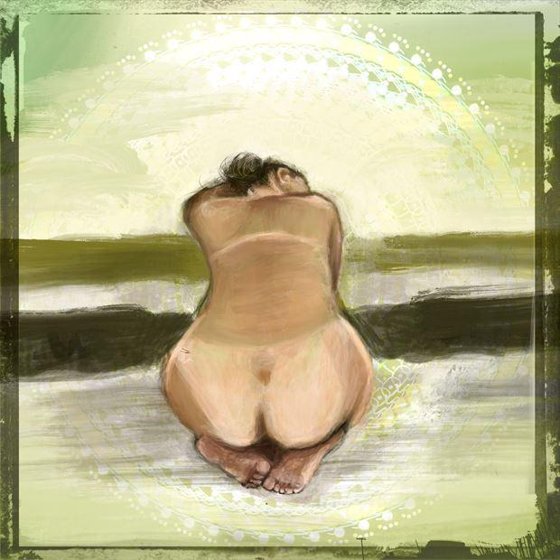 clarity 1 artistic nude artwork print by artist nick kozis