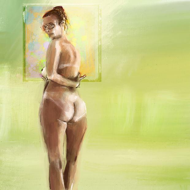 clarity 2 artistic nude artwork print by artist nick kozis