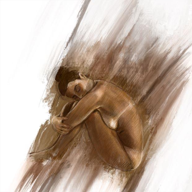 clarity 4 artistic nude artwork print by artist nick kozis