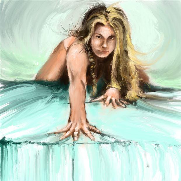clarity 8 implied nude artwork print by artist nick kozis