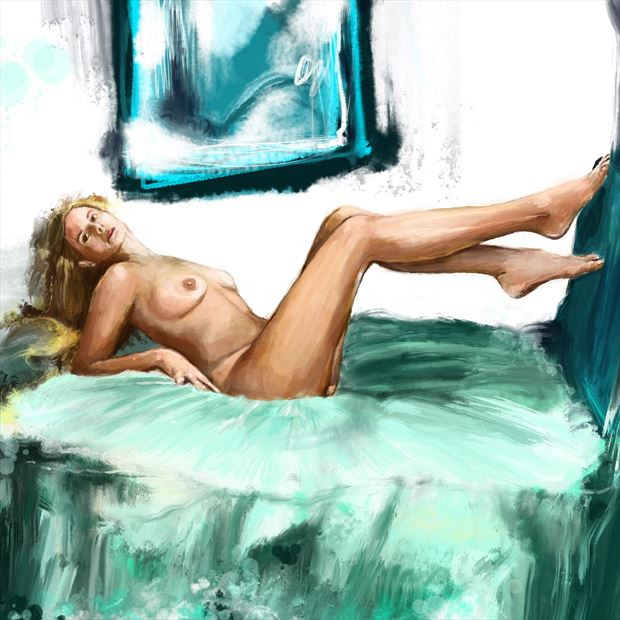 clarity 9 artistic nude artwork print by artist nick kozis