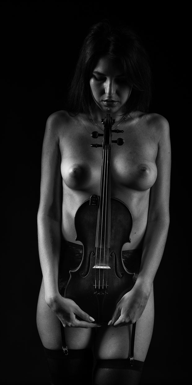 classical nude and music artistic nude photo print by photographer arcis