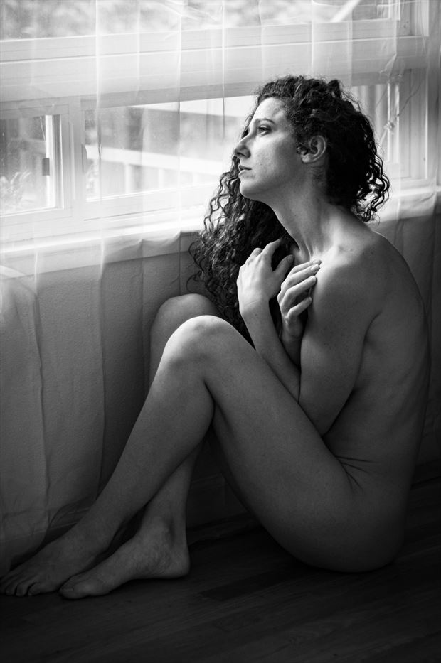 contemplations artistic nude photo print by photographer thomas branch