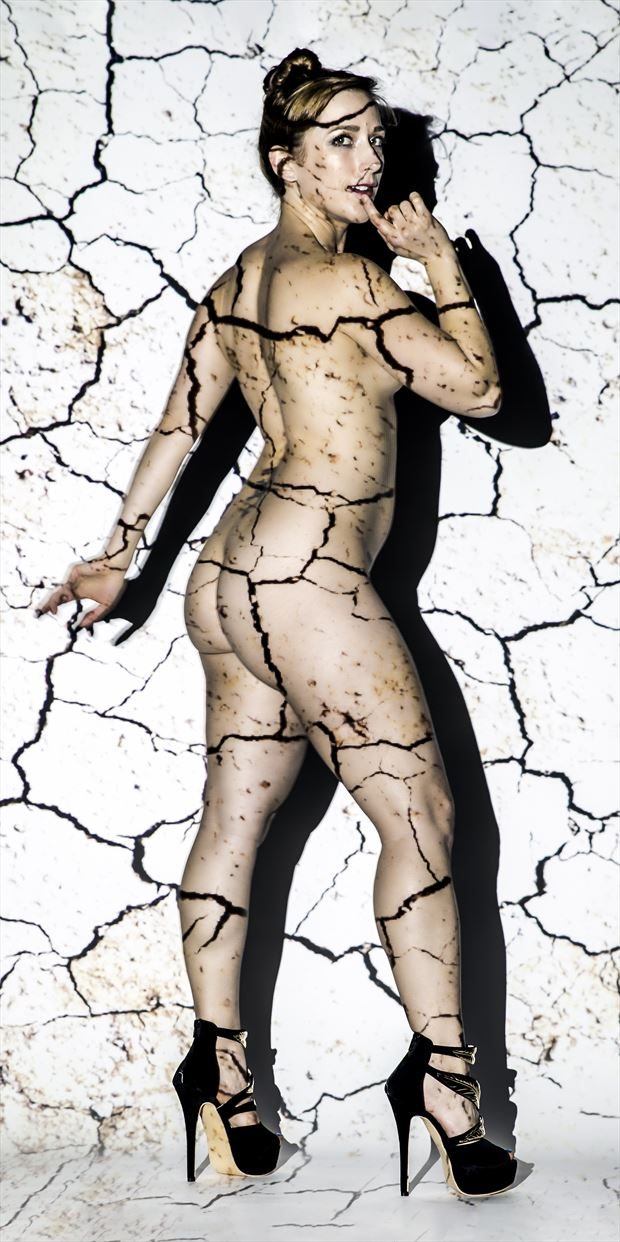 cracked artistic nude photo print by photographer ken greenhorn