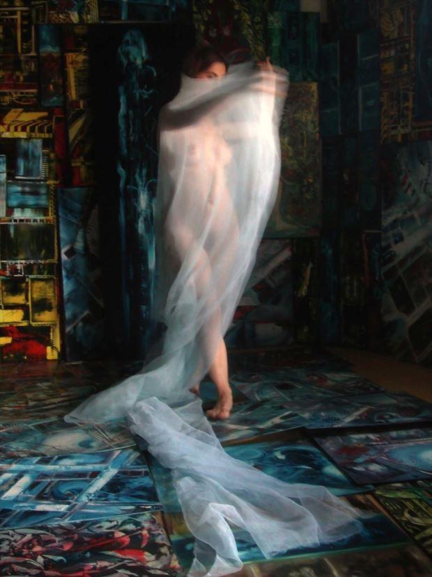 dance in joseph auquier painting atelier 2 artistic nude photo print by photographer joseph auquier