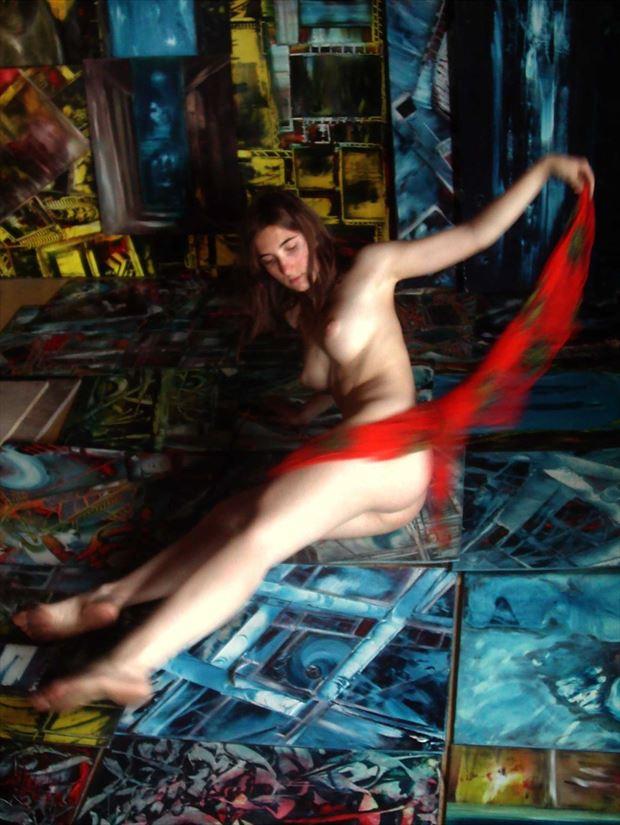 dance in joseph auquier painting atelier 3 surreal photo print by photographer joseph auquier