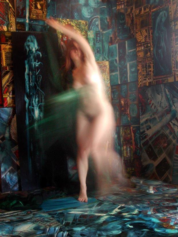 dance in joseph auquier painting atelier artistic nude photo print by photographer joseph auquier