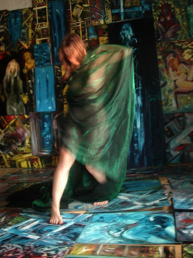 dance in the joseph auquier atelier of painting 1 artistic nude photo print by photographer joseph auquier