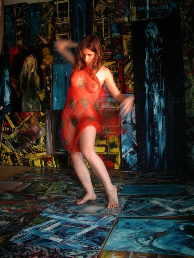 dance in the joseph auquier atelier of painting 6 surreal photo print by photographer joseph auquier