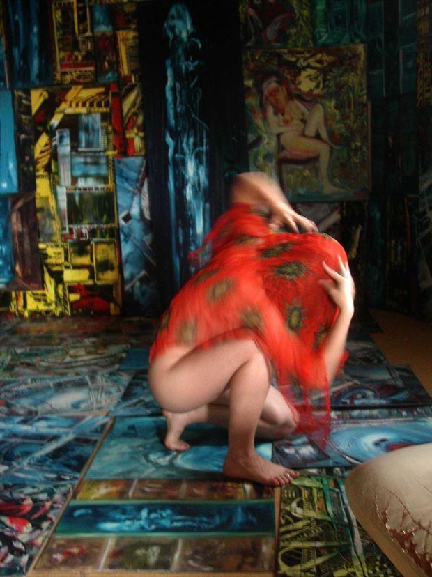 dance in the joseph auquier atelier of painting 7 lingerie photo print by photographer joseph auquier