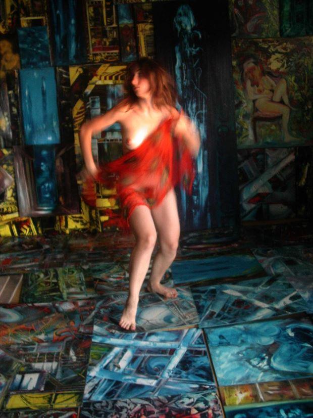 dance in the joseph auquier atelier of painting 9 lingerie photo print by photographer joseph auquier