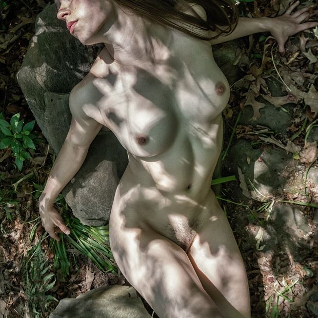 dappled artistic nude photo print by photographer rick jolson