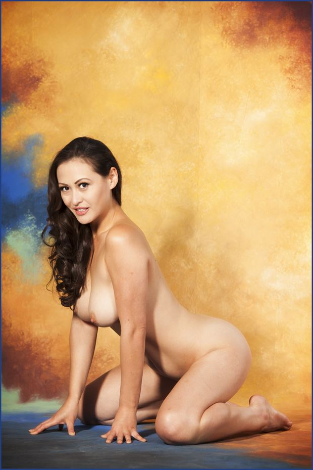 dark asia artistic nude photo print by photographer dpaphoto