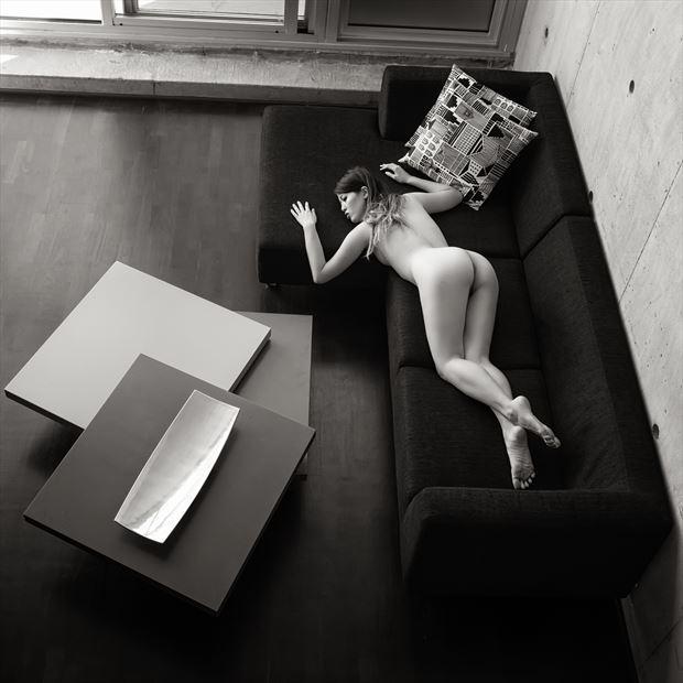 design for modern living artistic nude photo print by photographer randall hobbet