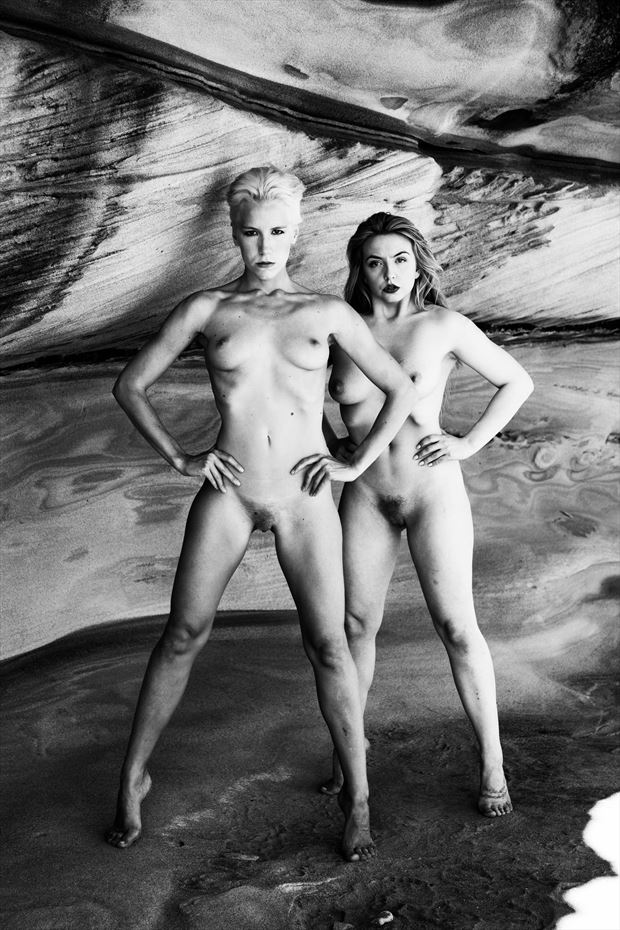 double trouble artistic nude photo print by photographer stephen wong