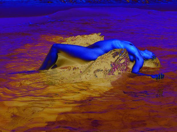 dream in blue artistic nude photo print by photographer joseph auquier