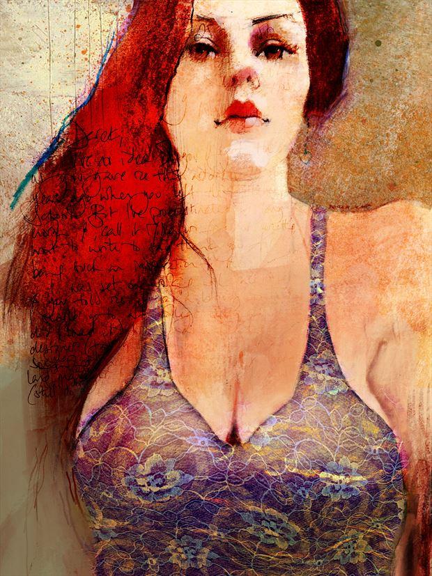 dress sensual artwork print by artist jond
