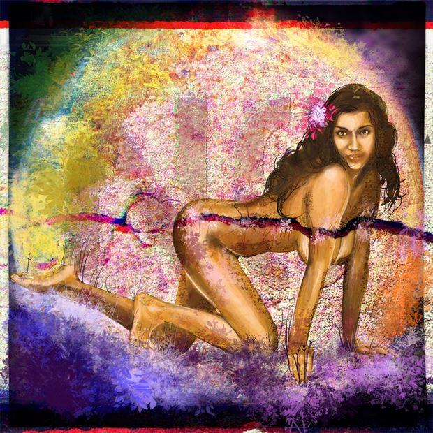earth day 2020 fantasy artwork print by artist nick kozis