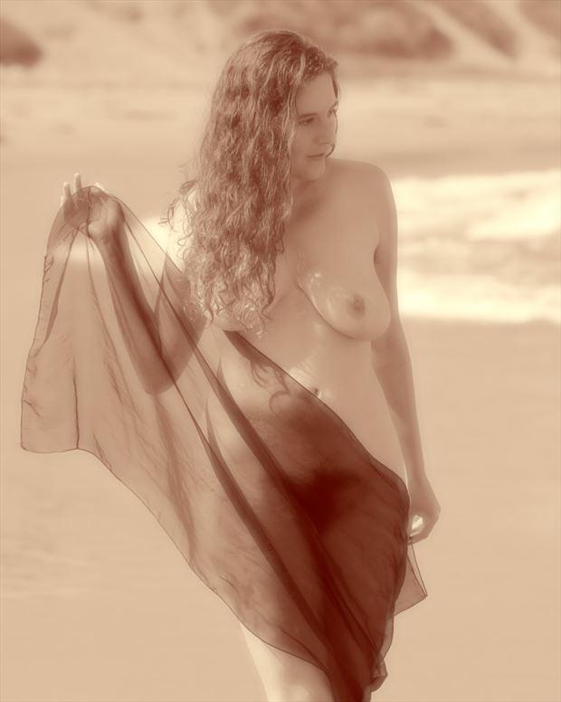 eleanor at the beach artistic nude photo print by photographer erichamburg