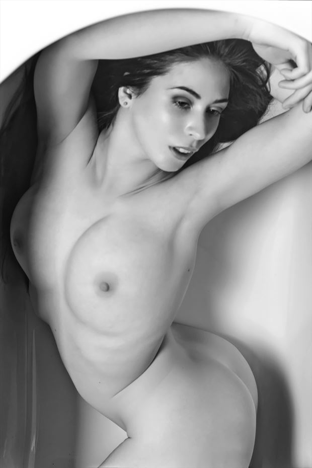 elle beth studio session artistic nude photo print by photographer philip turner