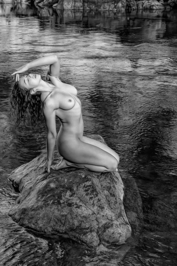 enchantress artistic nude photo print by photographer philip turner