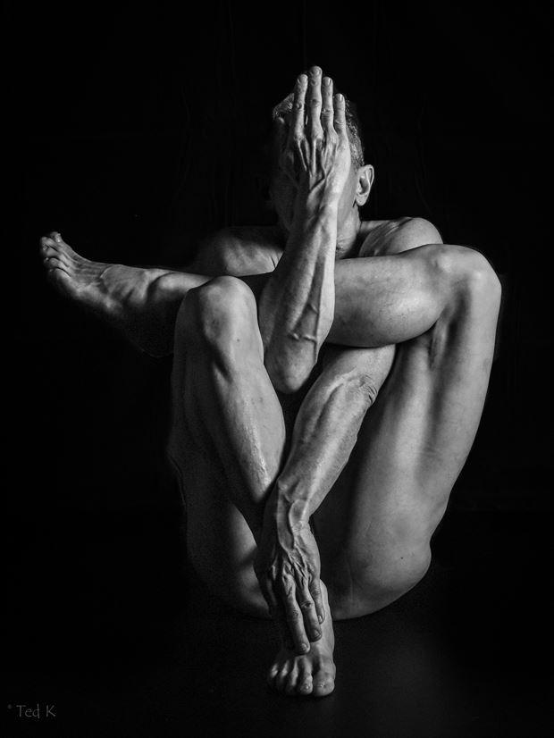 entangled studio lighting photo print by model artfitnessmodel