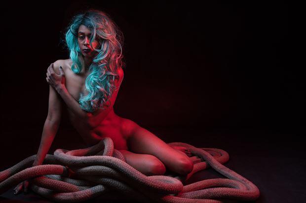 escaping her bonds surreal artwork print by photographer jim setzer