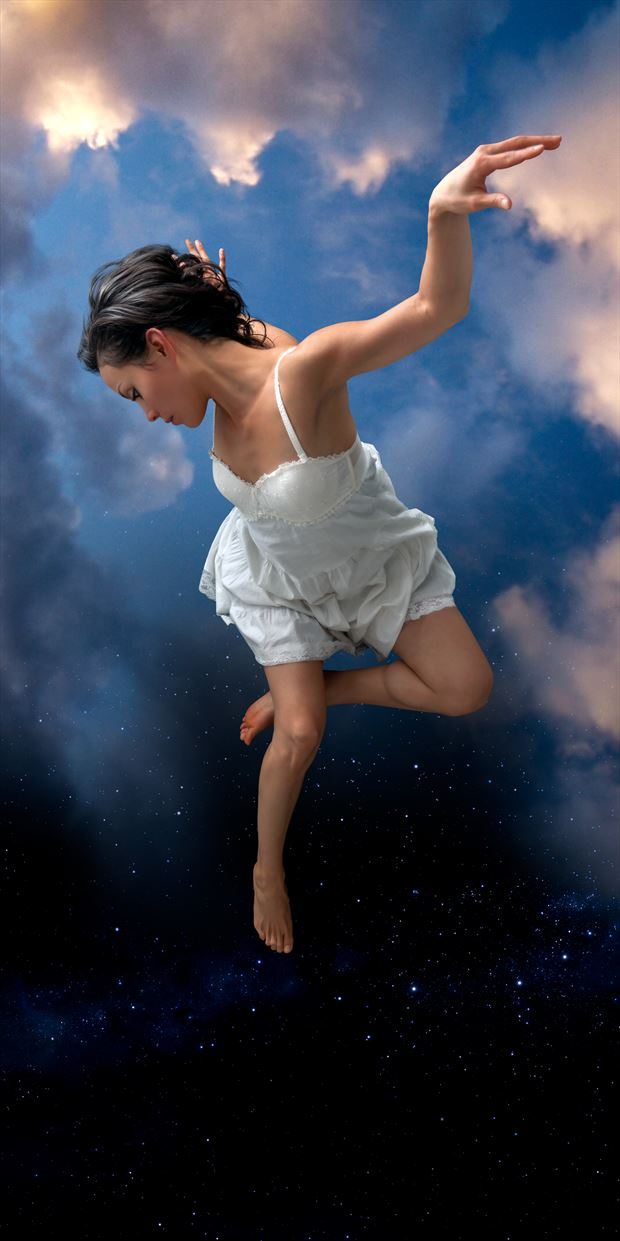 falling fantasy photo print by photographer perry van dongen