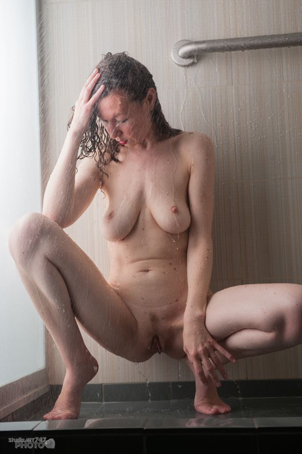 felicia shower art artistic nude artwork print by photographer studio747