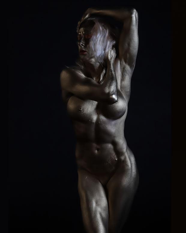 feminine strength artistic nude photo print by photographer bill milward