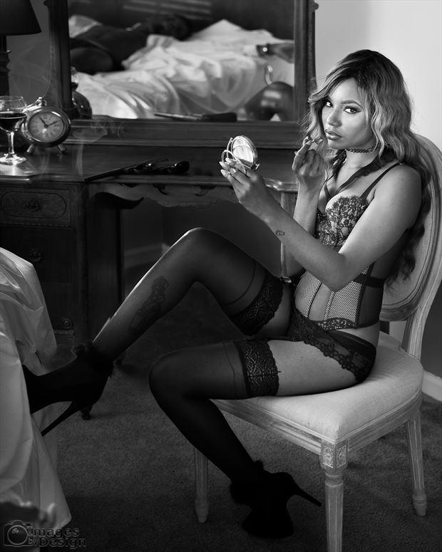 femme fatale lingerie artwork print by photographer jim setzer