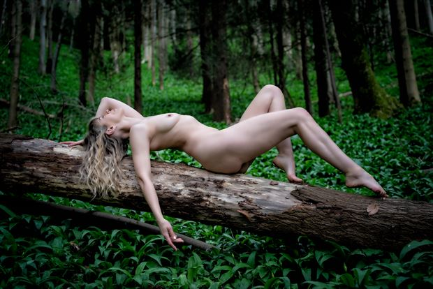 finely balanced artistic nude photo print by photographer colin dixon